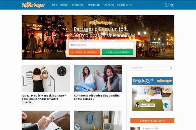 creatoin blog appartager