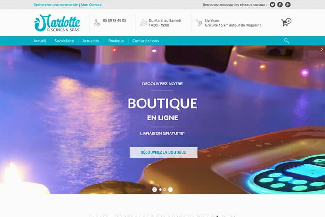 creation site ecommerce pisciniste