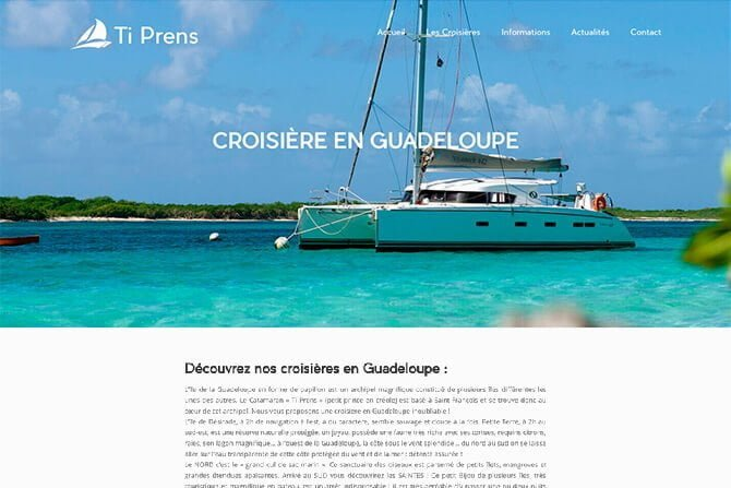 creation site internet croisieres guadeloupe