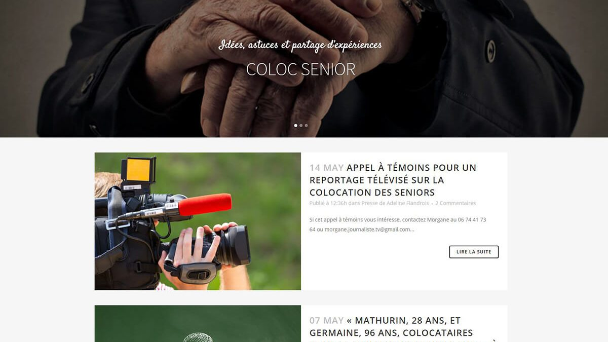 agence web pau coloc senior