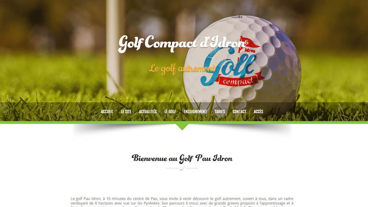 creation site internet pau golf compact