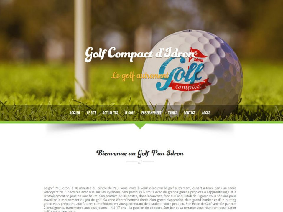 creation site internet pau golf compact