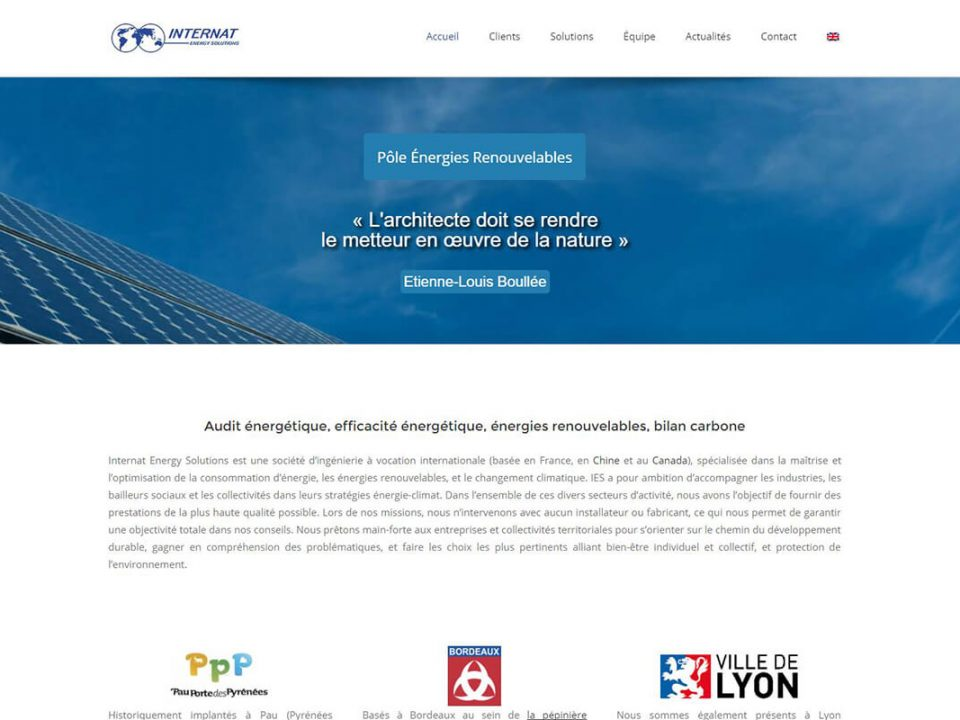 agence web pau internat energy solutions