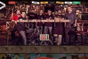 creation site internet le garage bar à pau