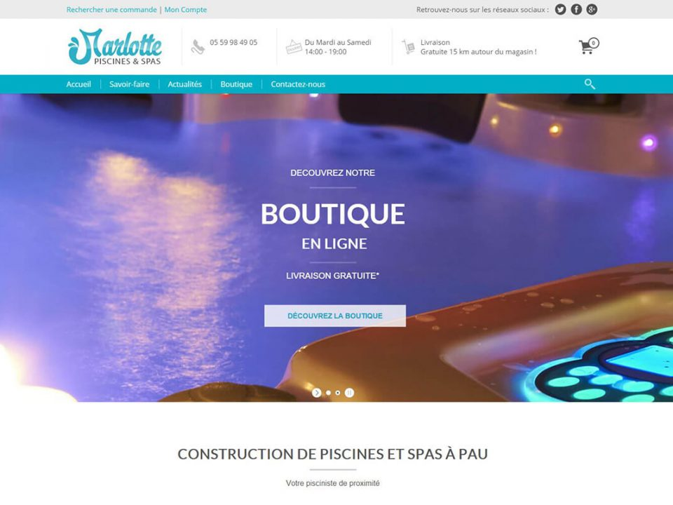 agence web pau marlotte piscines