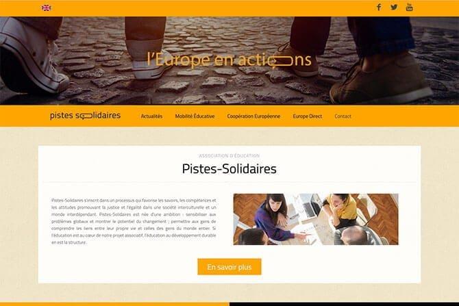 realisation de site association européenne