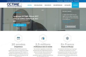 realisation site internet groupe octime