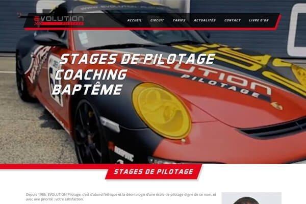création de site internet sport automobile